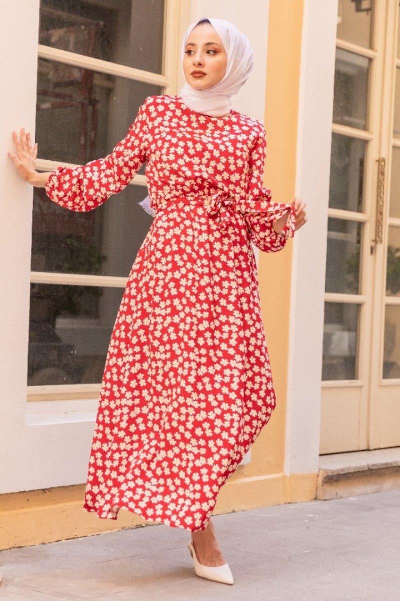 Aura Kırmızı Elbise