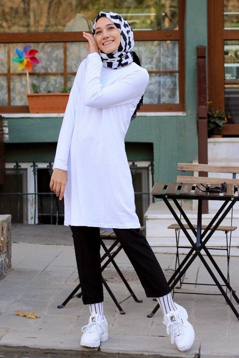 Wendy Beyaz Tunik