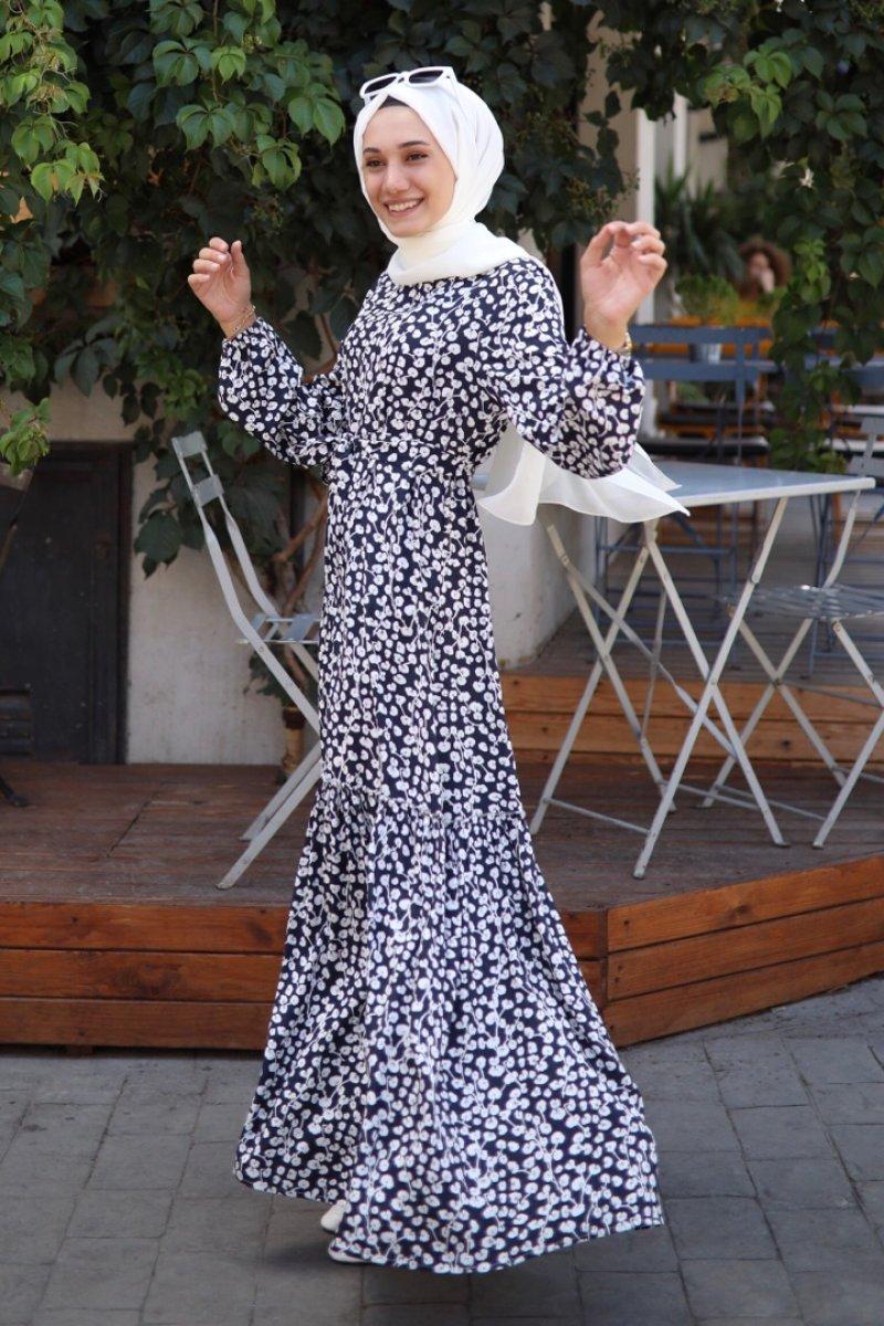 Yasemin Lacivert Elbise