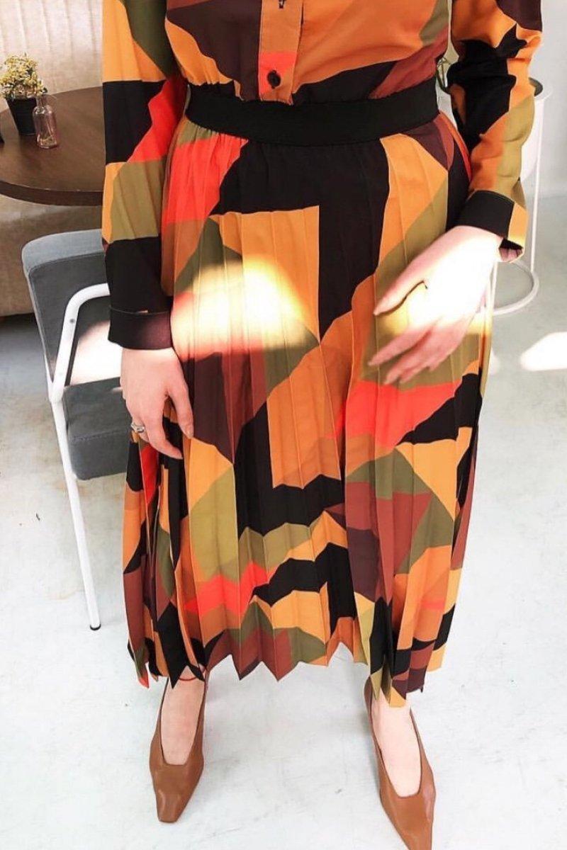 Jessica Turuncu Elbise