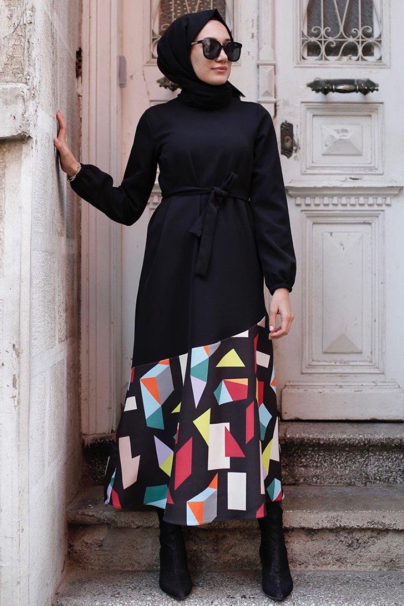 Hebba Siyah Elbise