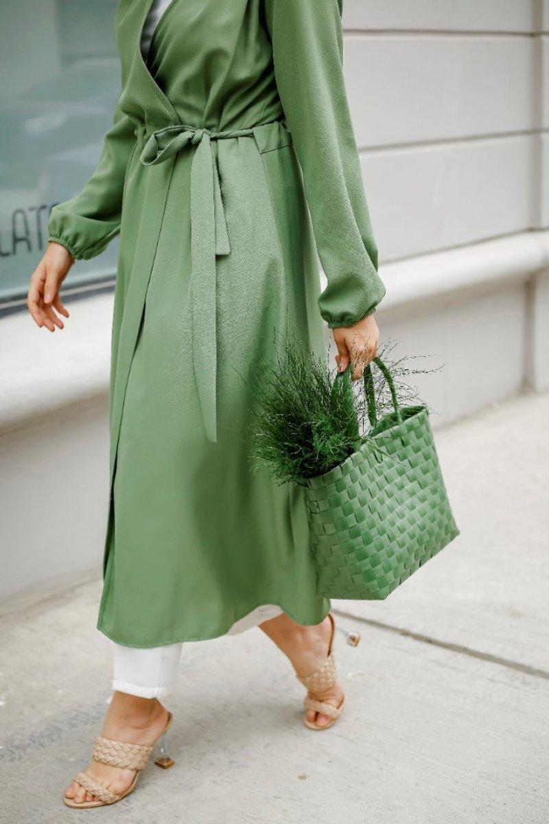 Paula Mint Yeşil Trenç